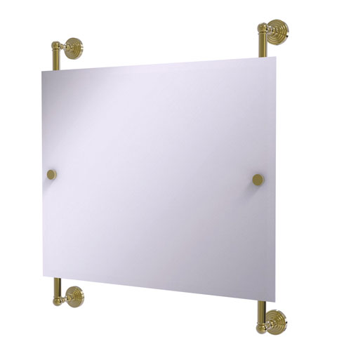 Waverly Place Unlacquered Brass 26-Inch Landscape Rectangular Frameless Rail Mounted Mirror
