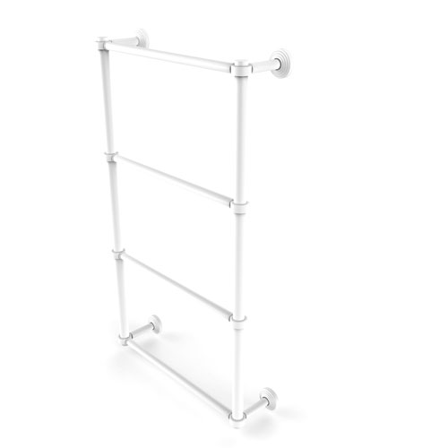 Waverly Place Matte White 30-Inch Four-Tier Ladder Towel Bar
