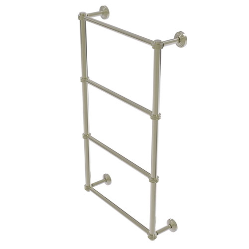 Waverly Place Polished Nickel 24-Inch Four Tier Ladder Towel Bar with Dotted Detail