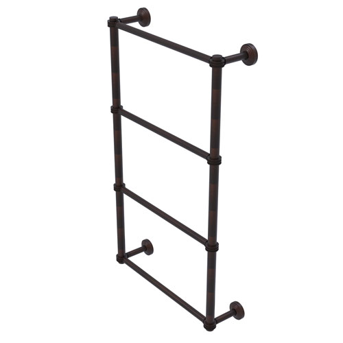 Waverly Place Venetian Bronze 30-Inch Four Tier Ladder Towel Bar with Dotted Detail