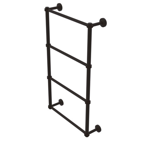 Waverly Place Oil Rubbed Bronze 36-Inch Four Tier Ladder Towel Bar with Dotted Detail