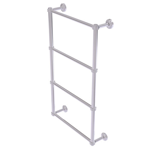 Waverly Place Polished Chrome 36-Inch Four Tier Ladder Towel Bar with Dotted Detail