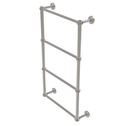 Waverly Place Satin Nickel 36-Inch Four Tier Ladder Towel Bar with Dotted Detail