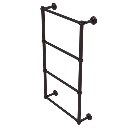 Waverly Place Antique Bronze 24-Inch Four-Tier Ladder Towel Bar with Twisted Detail