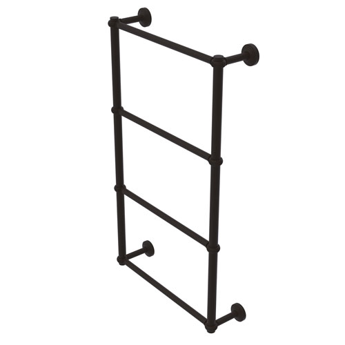 Waverly Place Oil Rubbed Bronze 24-Inch Four-Tier Ladder Towel Bar with Twisted Detail