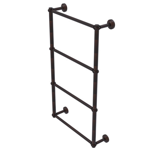 Waverly Place Venetian Bronze 30-Inch Four-Tier Ladder Towel Bar with Twisted Detail
