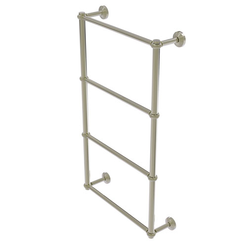 Waverly Place Polished Nickel 36-Inch Four-Tier Ladder Towel Bar with Twisted Detail