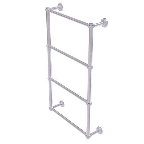 Waverly Place Satin Chrome 36-Inch Four-Tier Ladder Towel Bar with Twisted Detail