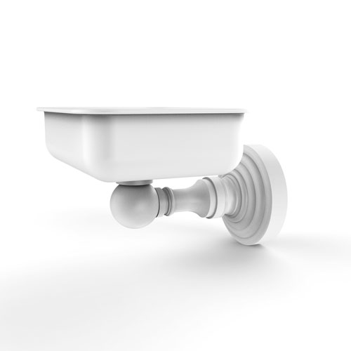 Waverly Place Matte White Four-Inch Wall Mounted Soap Dish