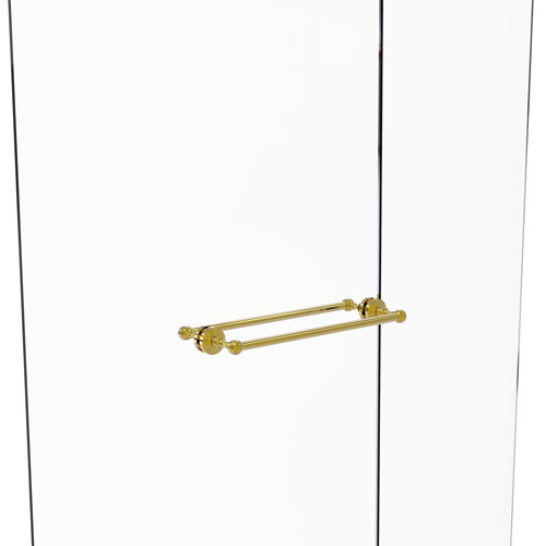 Waverly Place Polished Brass 18-Inch Back to Back Shower Door Towel Bar