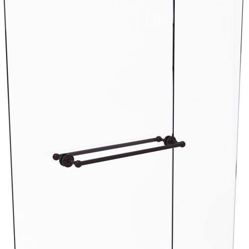 Waverly Place Antique Bronze 24-Inch Back to Back Shower Door Towel Bar