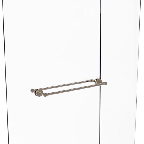 Waverly Place Antique Pewter 24-Inch Back to Back Shower Door Towel Bar