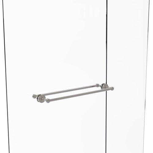 Waverly Place Satin Nickel 24-Inch Back to Back Shower Door Towel Bar