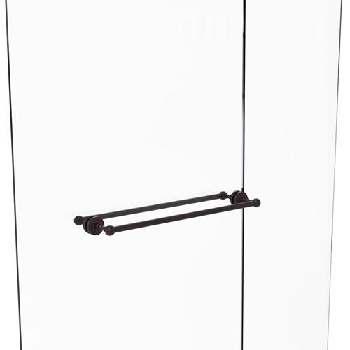 Waverly Place Venetian Bronze 24-Inch Back to Back Shower Door Towel Bar