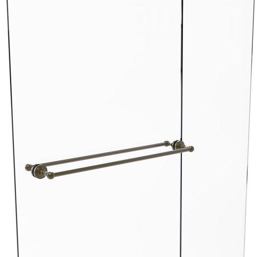 Waverly Place Antique Brass 30-Inch Back to Back Shower Door Towel Bar