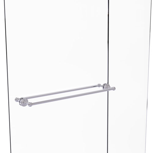 Waverly Place Satin Chrome 30-Inch Back to Back Shower Door Towel Bar
