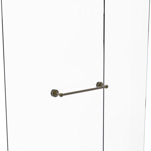 Waverly Place Antique Brass 18-Inch Shower Door Towel Bar