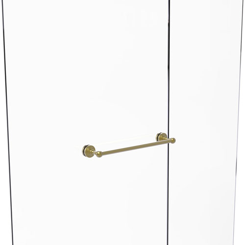 Waverly Place Satin Brass 18-Inch Shower Door Towel Bar