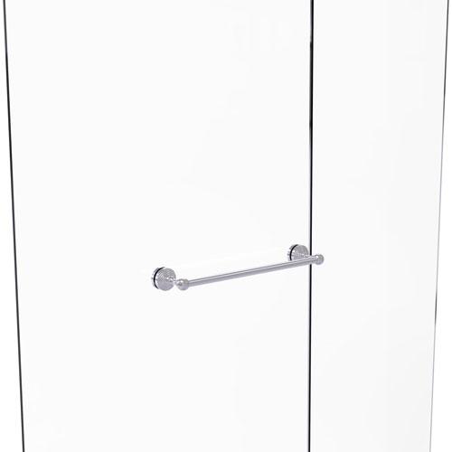 Waverly Place Satin Chrome 18-Inch Shower Door Towel Bar