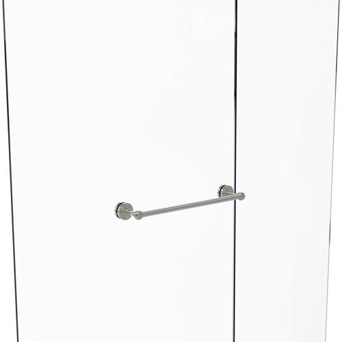 Waverly Place Satin Nickel 18-Inch Shower Door Towel Bar