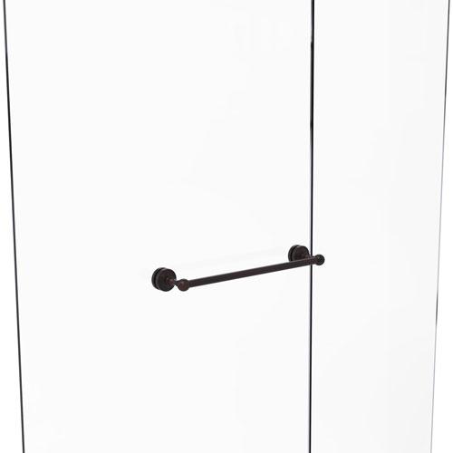 Waverly Place Venetian Bronze 18-Inch Shower Door Towel Bar