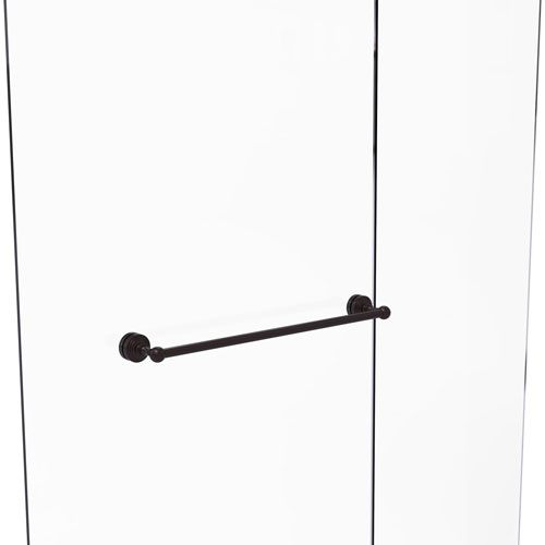 Waverly Place Antique Bronze 24-Inch Shower Door Towel Bar