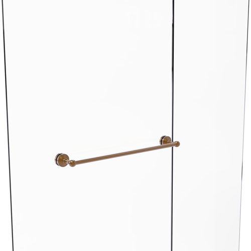 Waverly Place Brushed Bronze 24-Inch Shower Door Towel Bar