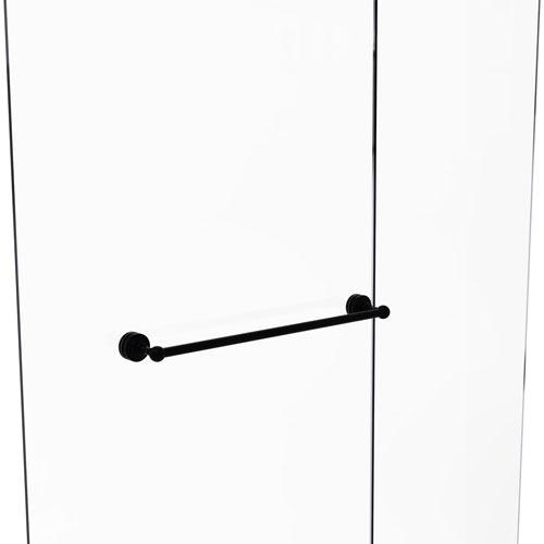 Waverly Place Matte Black 24-Inch Shower Door Towel Bar