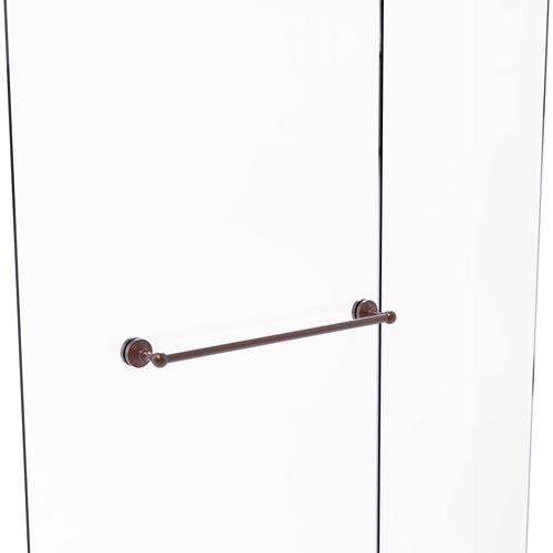 Waverly Place Antique Copper 24-Inch Shower Door Towel Bar
