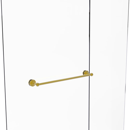 Waverly Place Polished Brass 24-Inch Shower Door Towel Bar