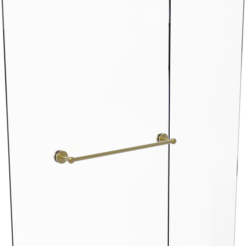 Waverly Place Satin Brass 24-Inch Shower Door Towel Bar