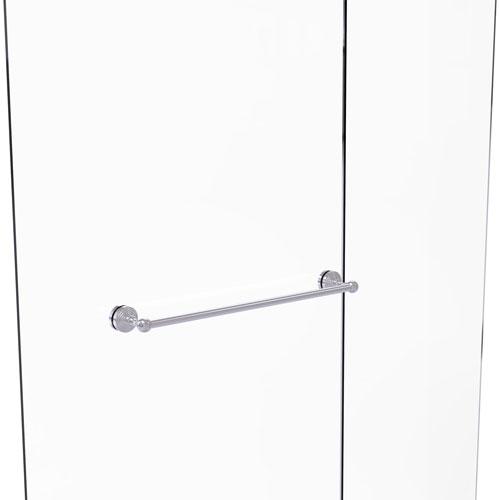 Waverly Place Satin Chrome 24-Inch Shower Door Towel Bar