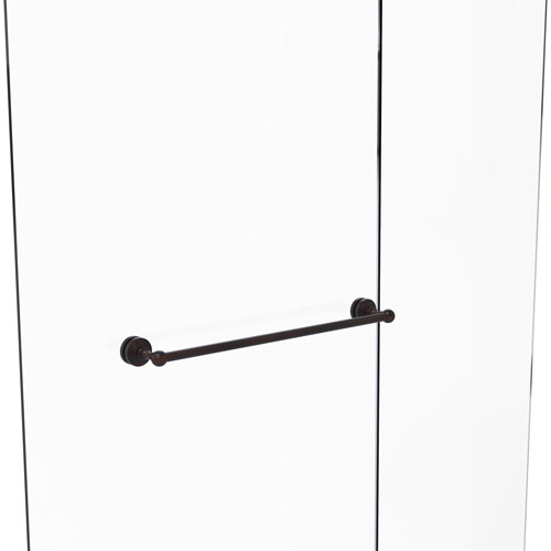 Waverly Place Venetian Bronze 24-Inch Shower Door Towel Bar