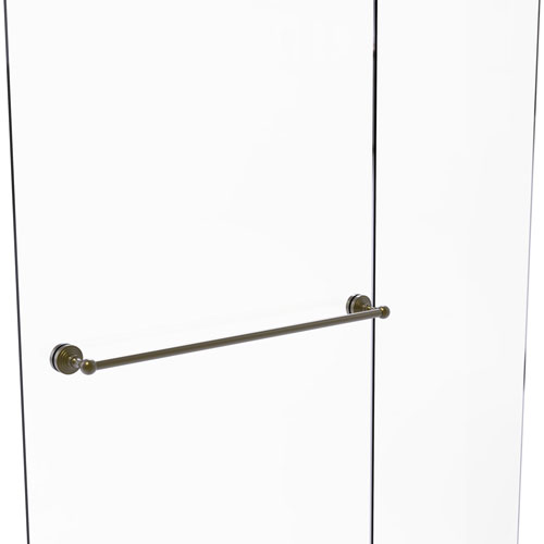 Waverly Place Antique Brass 30-Inch Shower Door Towel Bar