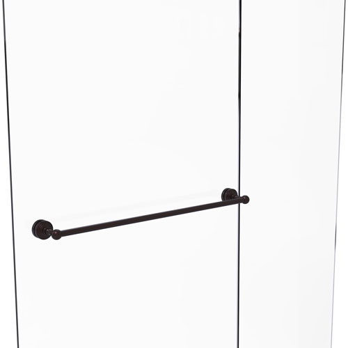 Waverly Place Antique Bronze 30-Inch Shower Door Towel Bar