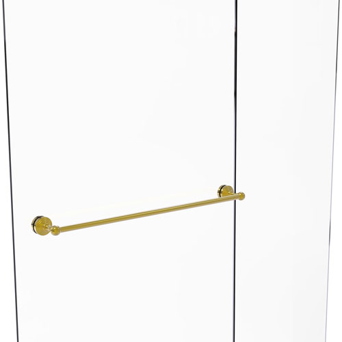Waverly Place Polished Brass 30-Inch Shower Door Towel Bar