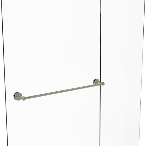 Waverly Place Polished Nickel 30-Inch Shower Door Towel Bar