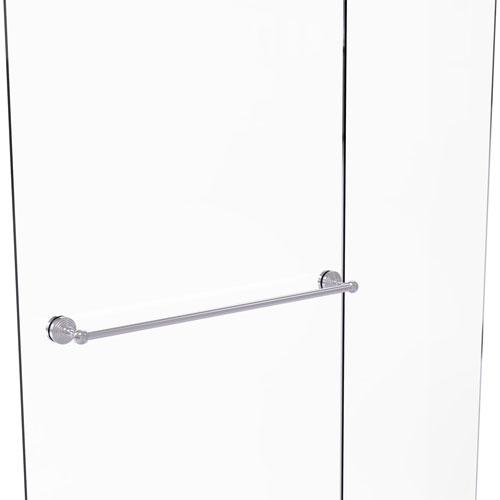 Waverly Place Satin Chrome 30-Inch Shower Door Towel Bar