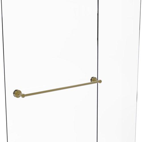 Waverly Place Unlacquered Brass 30-Inch Shower Door Towel Bar