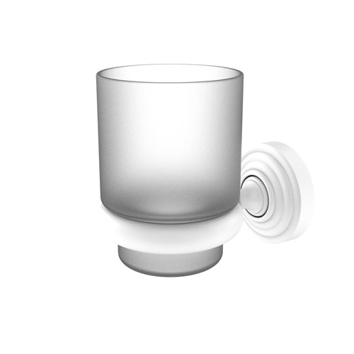 Waverly Place Matte White Three-Inch Wall Mounted Tumbler Holder