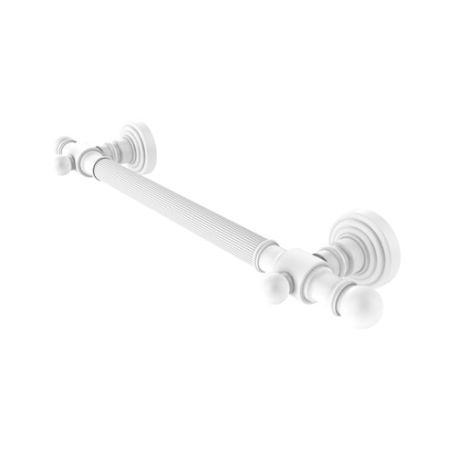 Waverly Place Matte White 32-Inch Grab Bar Reeded