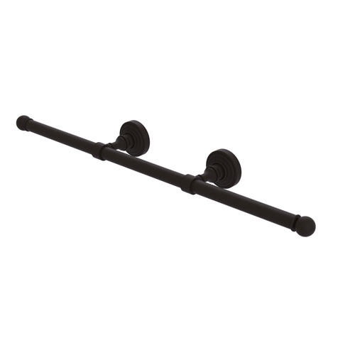 Waverly Place Oil Rubbed Bronze Four-Inch Wall Mounted Horizontal Guest Towel Holder