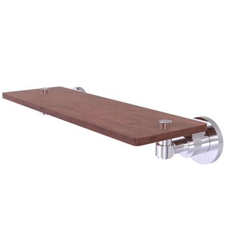 Washington Square Polished Chrome 16-Inch Solid IPE Ironwood Shelf