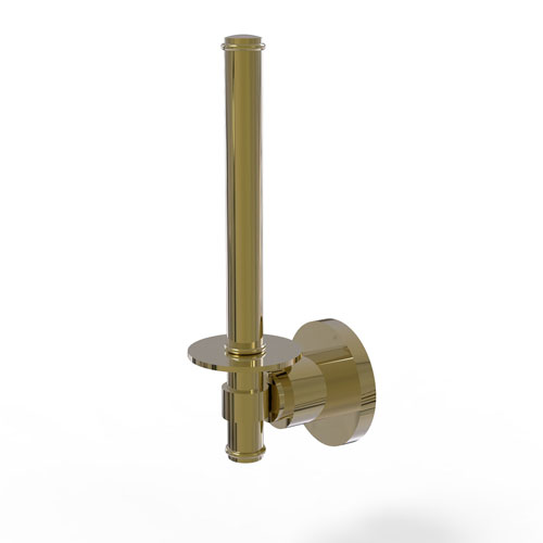 Washington Square Unlacquered Brass Three-Inch Upright Toilet Tissue Holder