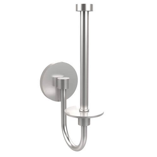 Satin Chrome Upright Toilet Paper Holder
