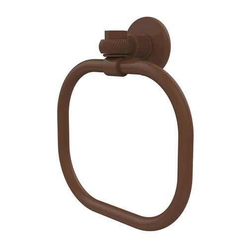 Continental Collection Towel Ring with Twist Accents, Antique Bronze