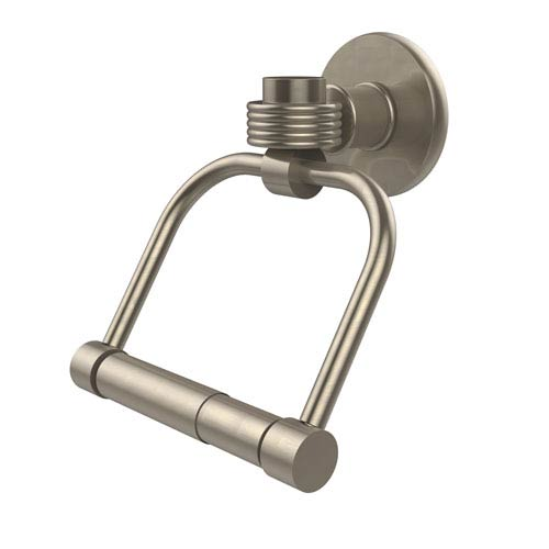 Continental Collection 2 Post Toilet Tissue Holder with Groovy Accents, Antique Pewter