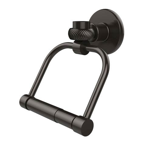 Continental Collection 2 Post Toilet Tissue Holder with Twisted Accents, Oil Rubbed Bronze