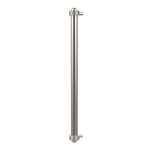 Allied Brass 18 Inch Refrigerator Pull with Groovy Accents, Satin Nickel