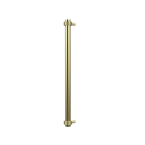 18 Inch Refrigerator Pull with Groovy Accents, Satin Brass